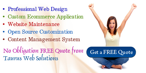 No Obligation FREE Quote from Taurus Web Solutions