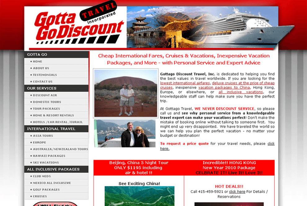 Travel & Tourism Portfolio